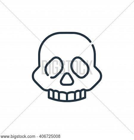skull icon isolated on white background from climate change collection. skull icon thin line outline