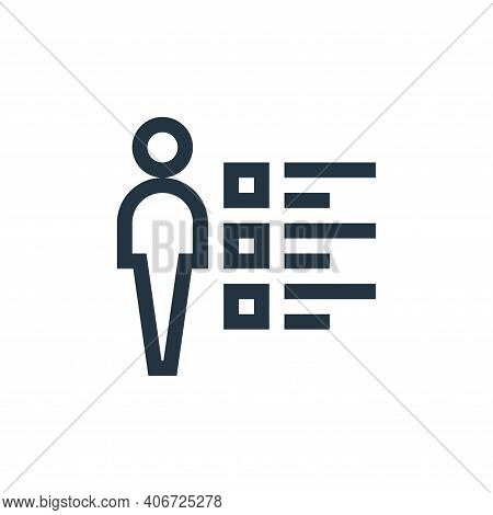 skills icon isolated on white background from job resume collection. skills icon thin line outline l