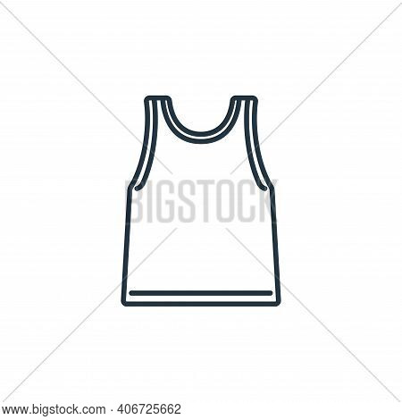 singlet icon isolated on white background from clothes and outfit collection. singlet icon thin line