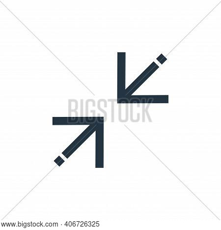 shrink icon isolated on white background from arrows collection. shrink icon thin line outline linea