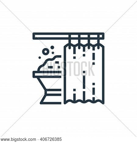 shower curtains icon isolated on white background from recycling collection. shower curtains icon th