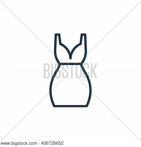 short dress icon isolated on white background from wardrobe collection. short dress icon thin line o