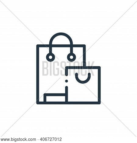shopping bags icon isolated on white background from online shopping collection. shopping bags icon