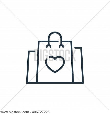 shopping bag icon isolated on white background from mall collection. shopping bag icon thin line out