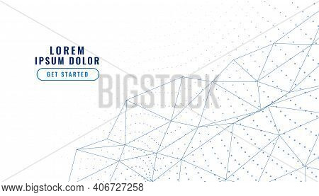Elegant White Low Poly Lines Connection Background
