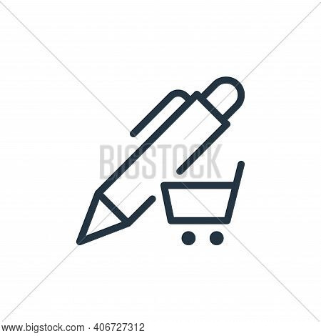 shop icon isolated on white background from work office supply collection. shop icon thin line outli