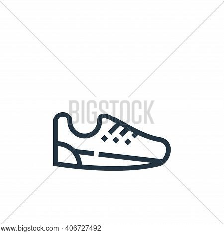 shoe icon isolated on white background from clothes and apparel collection. shoe icon thin line outl