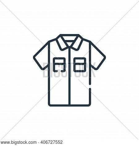 shirt icon isolated on white background from sewing collection. shirt icon thin line outline linear