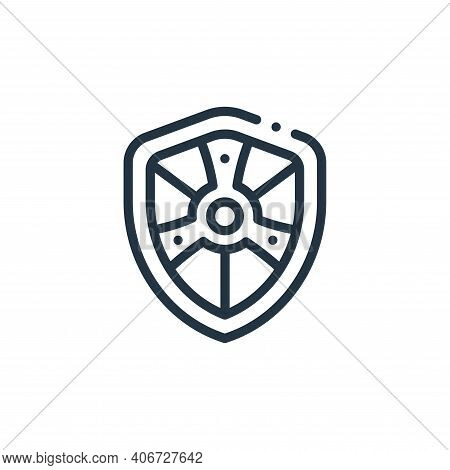 shield icon isolated on white background from videogame elements collection. shield icon thin line o