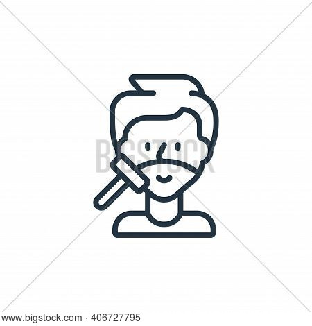 shaving icon isolated on white background from hygiene collection. shaving icon thin line outline li