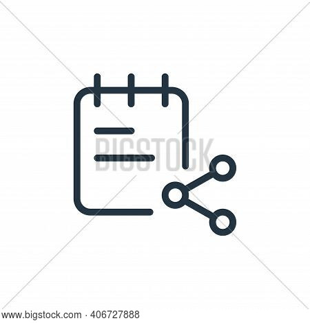 share icon isolated on white background from work office supply collection. share icon thin line out