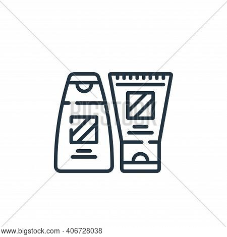 shampoo icon isolated on white background from hairdressing and barber shop collection. shampoo icon