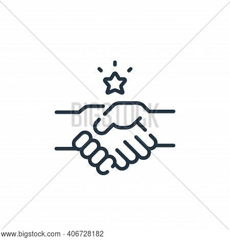 Shake Hands Vector Icon From Auto Racing Collection Isolated On White Background