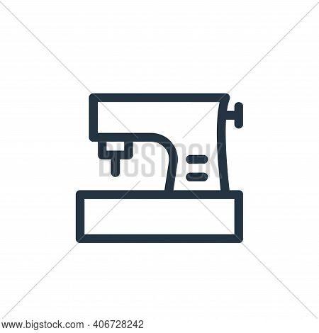 sewing machine icon isolated on white background from electronics collection. sewing machine icon th