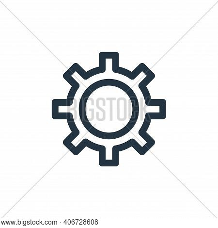 settings icon isolated on white background from labour day collection. settings icon thin line outli