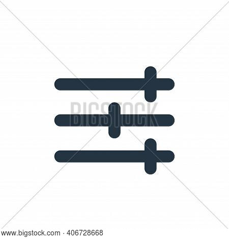 setting icon isolated on white background from user interface collection. setting icon thin line out