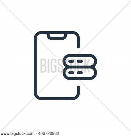 server icon isolated on white background from work office server collection. server icon thin line o
