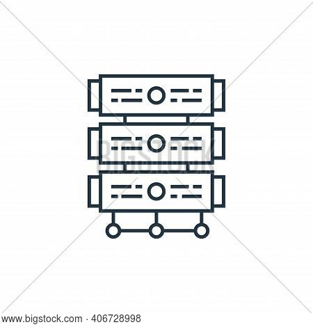 server icon isolated on white background from technology devices collection. server icon thin line o