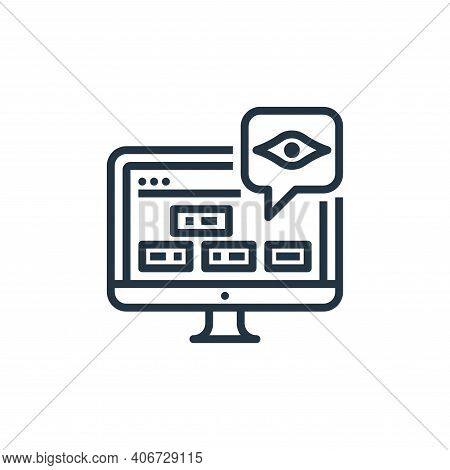 seo icon isolated on white background from user experience collection. seo icon thin line outline li