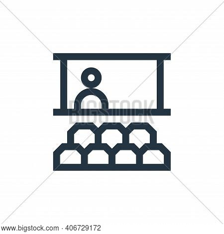 seminar icon isolated on white background from job resume collection. seminar icon thin line outline