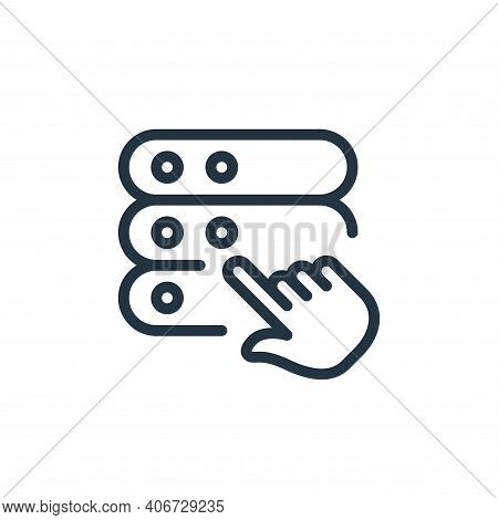select icon isolated on white background from work office server collection. select icon thin line o