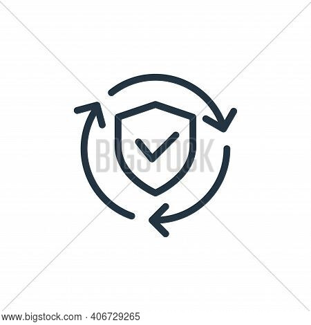 security icon isolated on white background from data transfer collection. security icon thin line ou