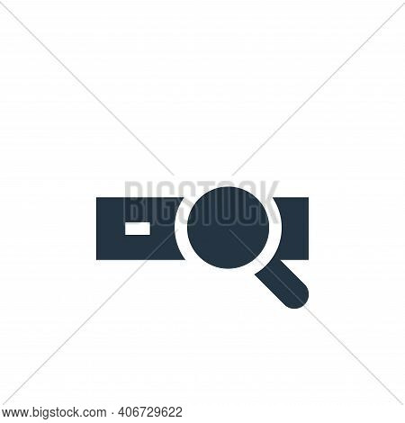 searching icon isolated on white background from advertisement collection. searching icon thin line