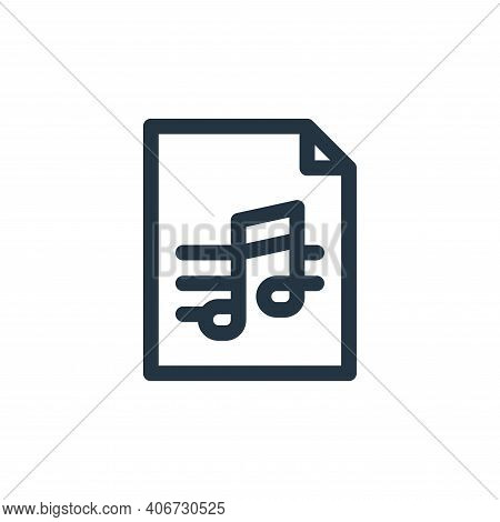 score icon isolated on white background from music collection. score icon thin line outline linear s