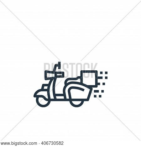scooter icon isolated on white background from food delivery collection. scooter icon thin line outl