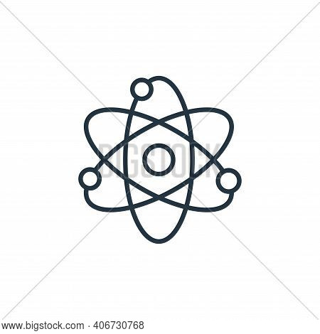 science icon isolated on white background from education collection. science icon thin line outline