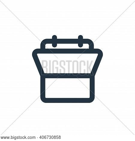 schedule icon isolated on white background from business collection. schedule icon thin line outline