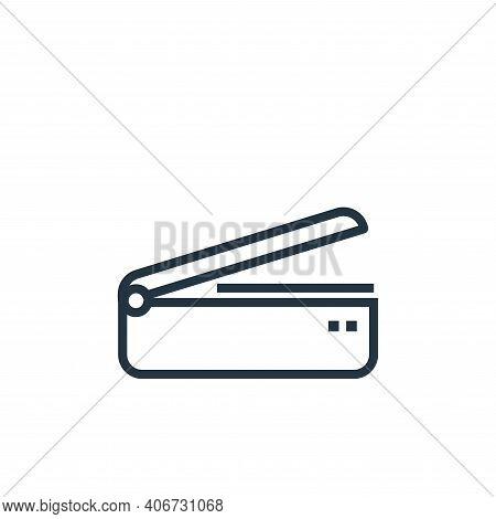 scanner icon isolated on white background from hardware collection. scanner icon thin line outline l