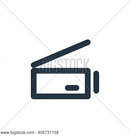scanner icon isolated on white background from electronics collection. scanner icon thin line outlin