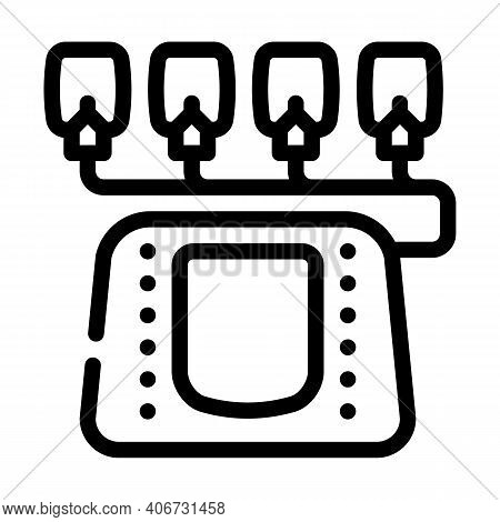 Electrotherapy Equipment Line Icon Vector Illustration Flat