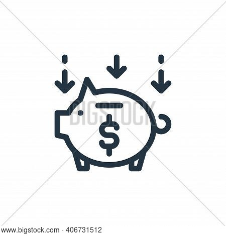 save money icon isolated on white background from ecommerce collection. save money icon thin line ou