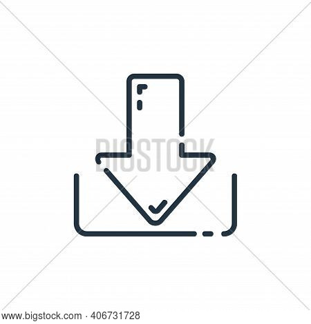 save icon isolated on white background from user interface collection. save icon thin line outline l