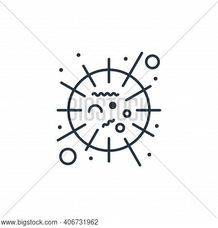 sars icon isolated on white background from coronavirus collection. sars icon thin line outline line