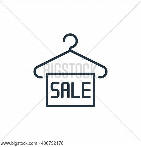 sale label icon isolated on white background from ecommerce collection. sale label icon thin line ou