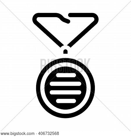 Wearing On Neck Or Keychain Air Filter Glyph Icon Vector Illustration