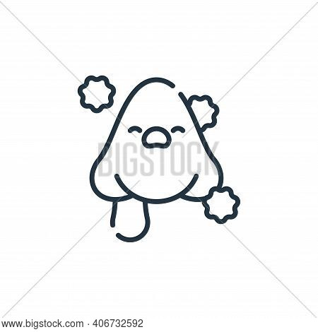 runny nose icon isolated on white background from medical services collection. runny nose icon thin