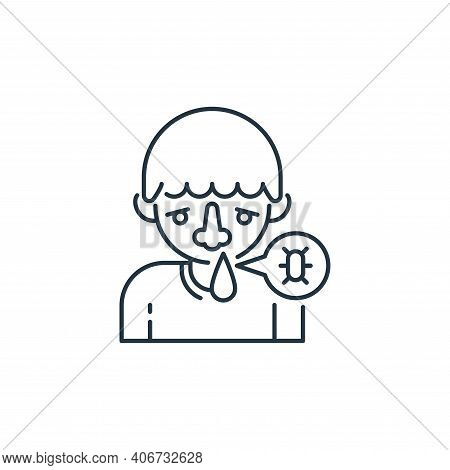 runny nose icon isolated on white background from virus transmission collection. runny nose icon thi