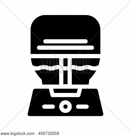 Air Purifier And Humidifier Glyph Icon Vector Illustration