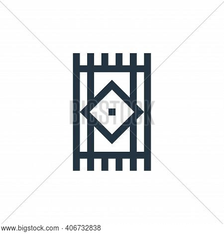 rug icon isolated on white background from hippies collection. rug icon thin line outline linear rug