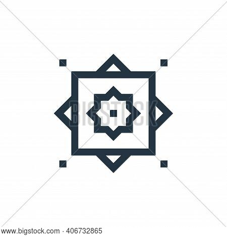 rub el hizb icon isolated on white background from ramadan collection. rub el hizb icon thin line ou