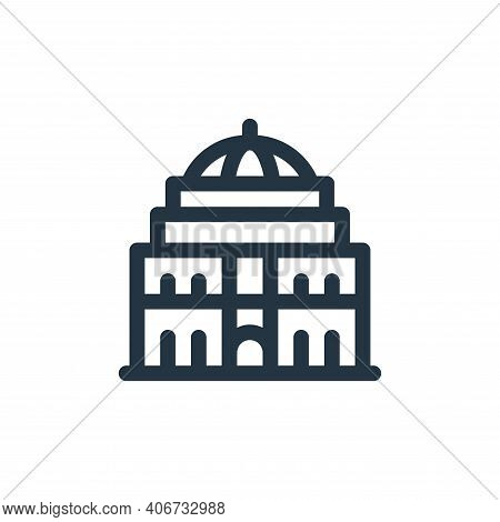 royal albert hall icon isolated on white background from england collection. royal albert hall icon
