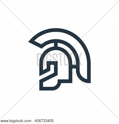 roman helmet icon isolated on white background from history collection. roman helmet icon thin line