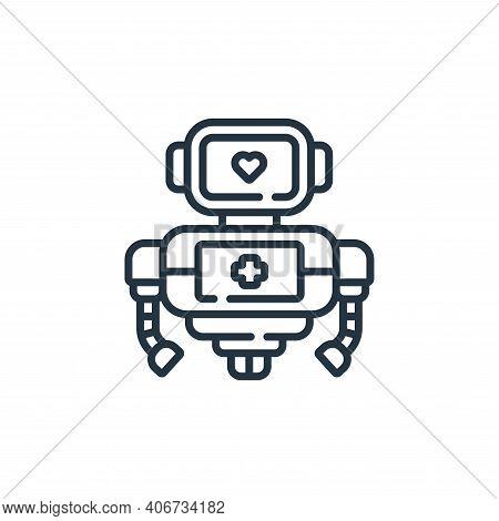 robot icon isolated on white background from robotics collection. robot icon thin line outline linea
