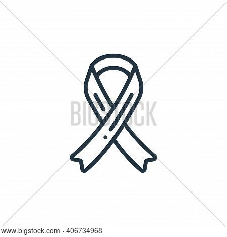 ribbon icon isolated on white background from womens day collection. ribbon icon thin line outline l