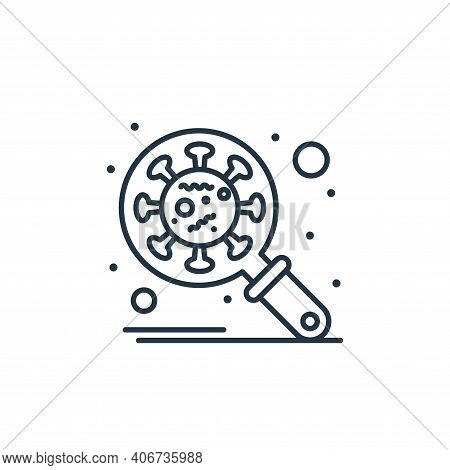 research icon isolated on white background from coronavirus collection. research icon thin line outl