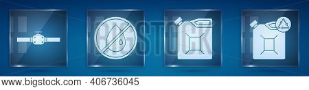 Set Industry Pipes And Valve, No Oil Drop, Canister For Gasoline And Eco Fuel Canister. Square Glass